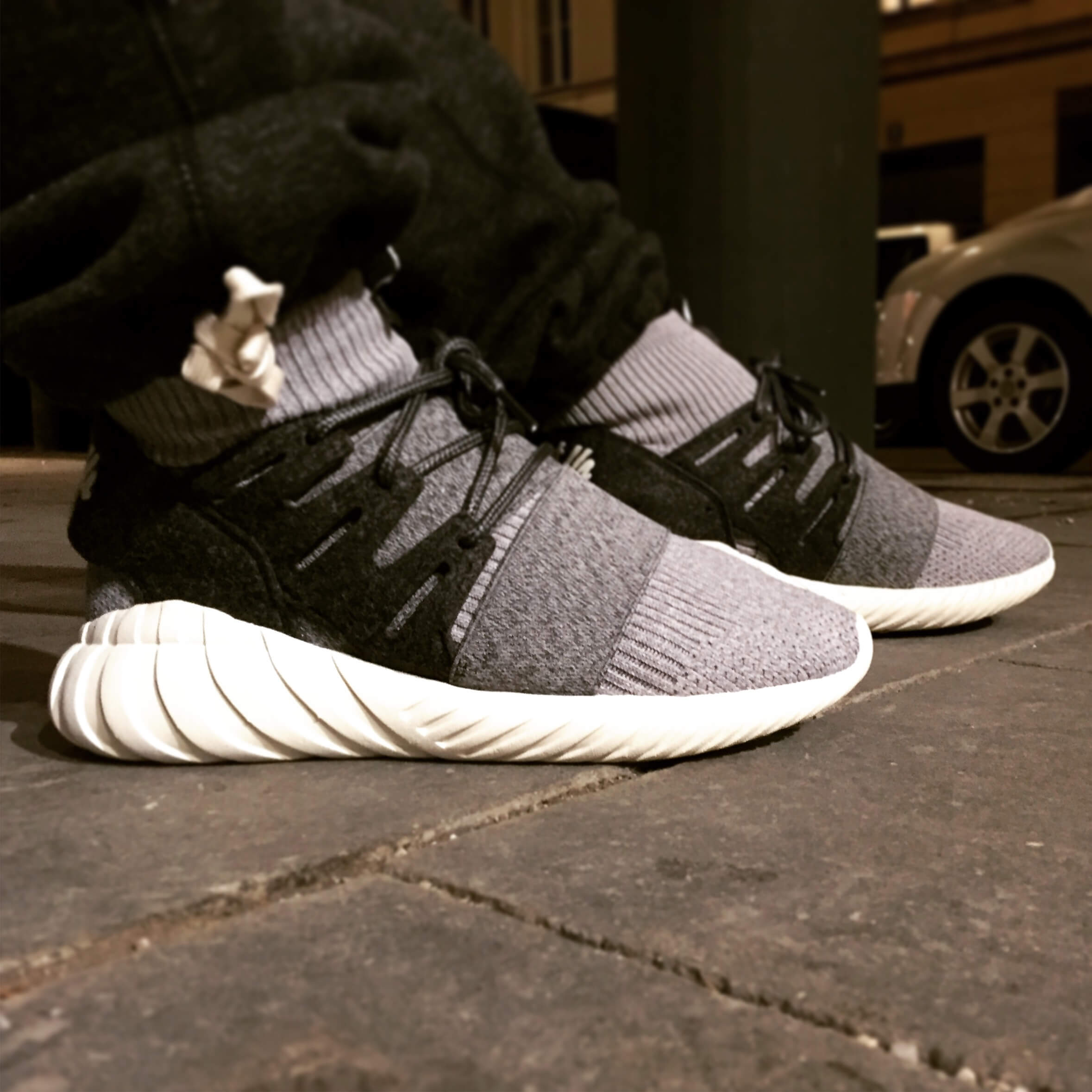 Adidas Originals Tubular Nova Primeknit Black / White Kith NYC