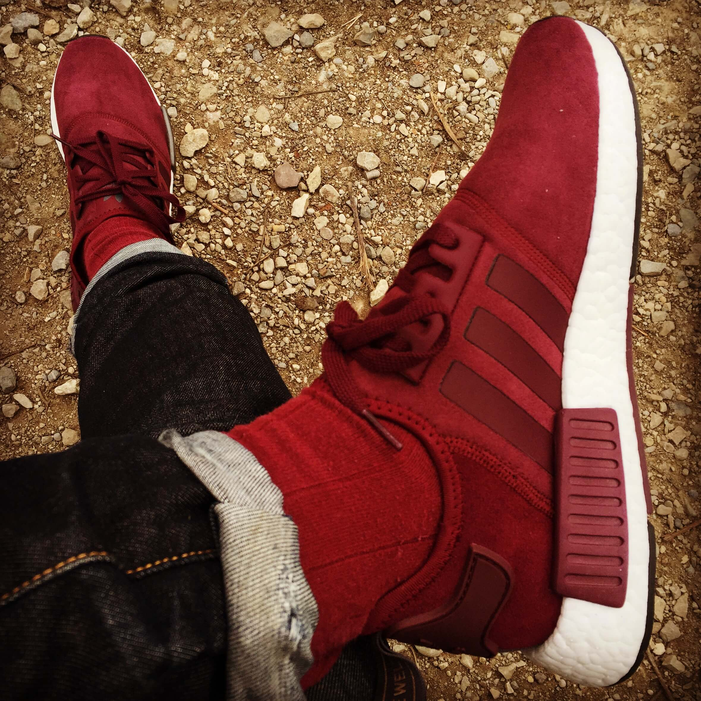 Adidas-NMD-R1-Suede-Top-View-Benstah-Onfeet