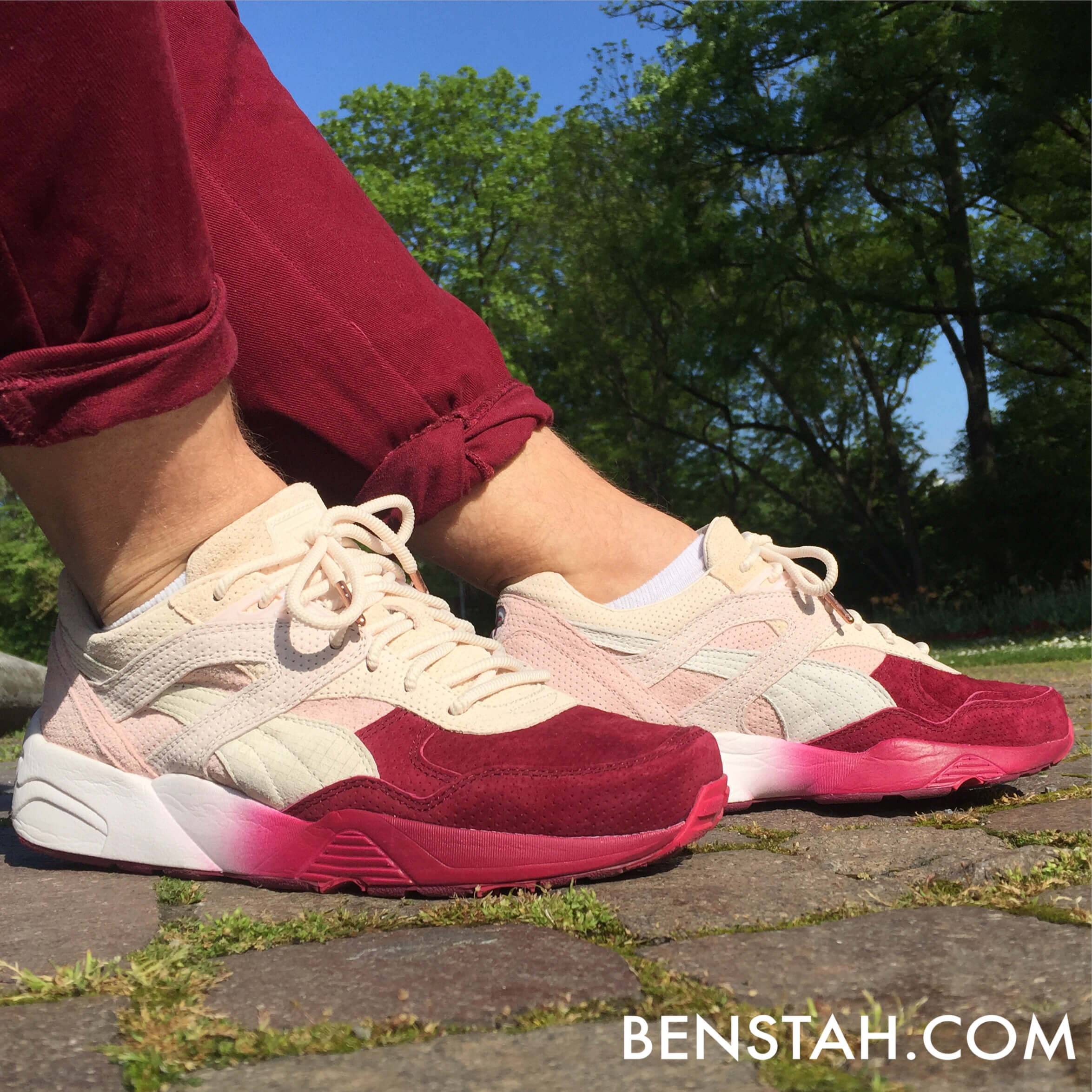 Puma-Ronnie-Fieg-x-R698-Sakura-Project-Side-View-Benstah-Onfeet