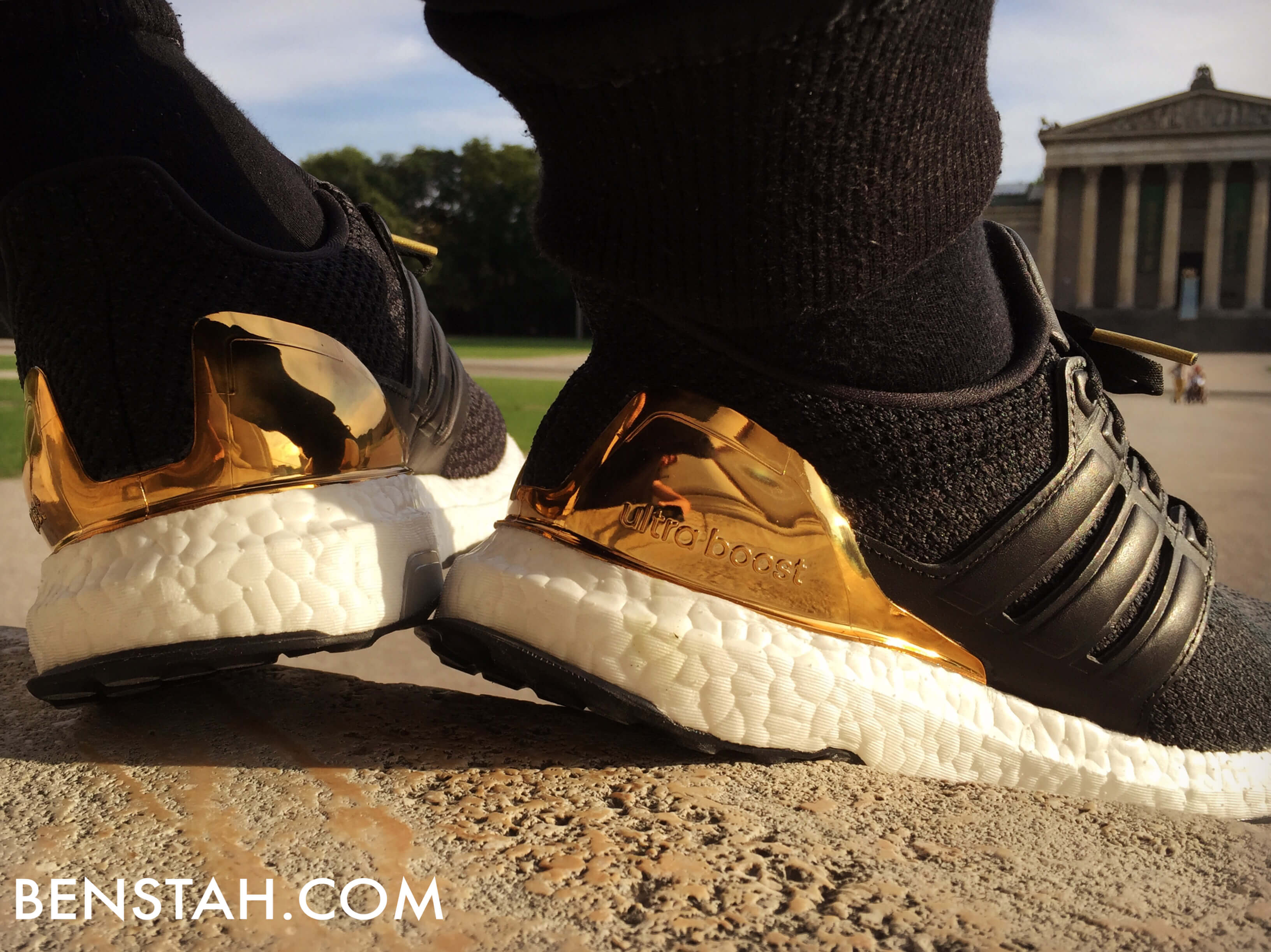 adidas-ultra-boost-gold-medal-rear-view-benstah-onfeet