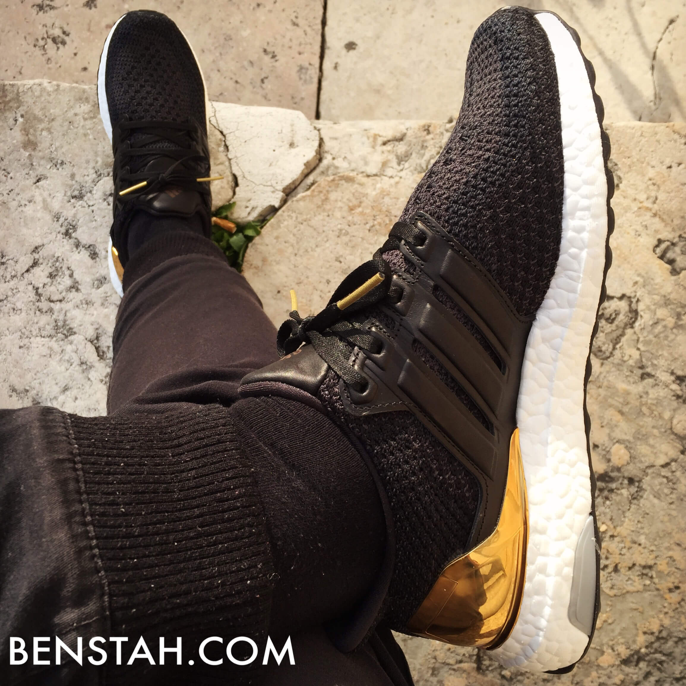 adidas-ultra-boost-gold-medal-top-view-benstah-onfeet