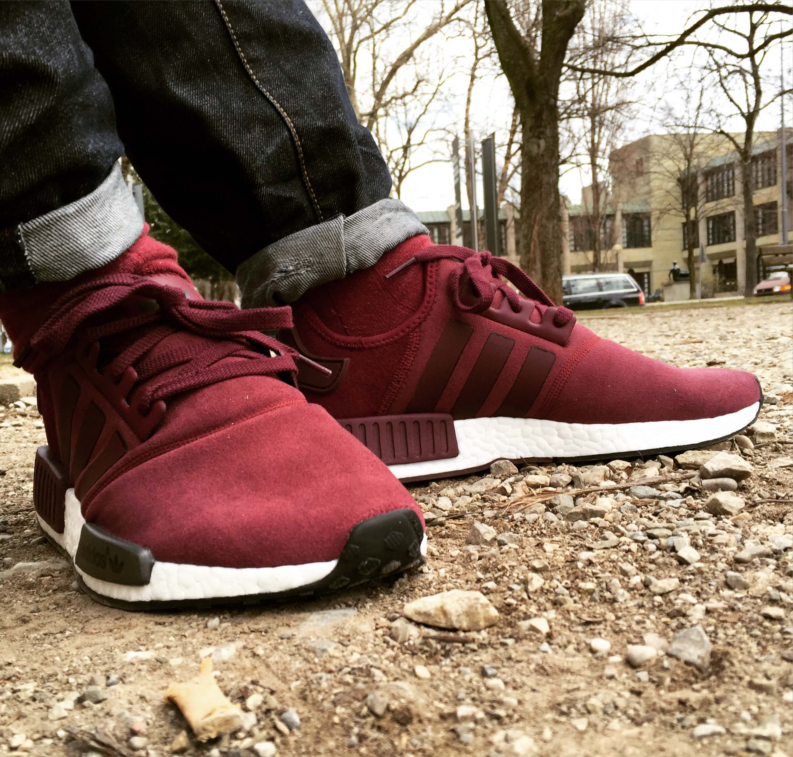 best service e0ace 0d7b2 Adidas-NMD-R1-Suede-Side-View-2-Benstah-