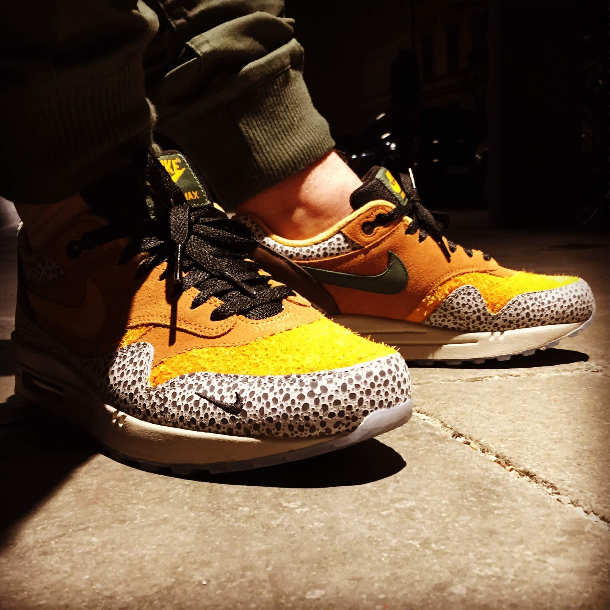 Nike-Air-Max-1-Safari-x-Atmos-Side-View-Benstah-Onfeet