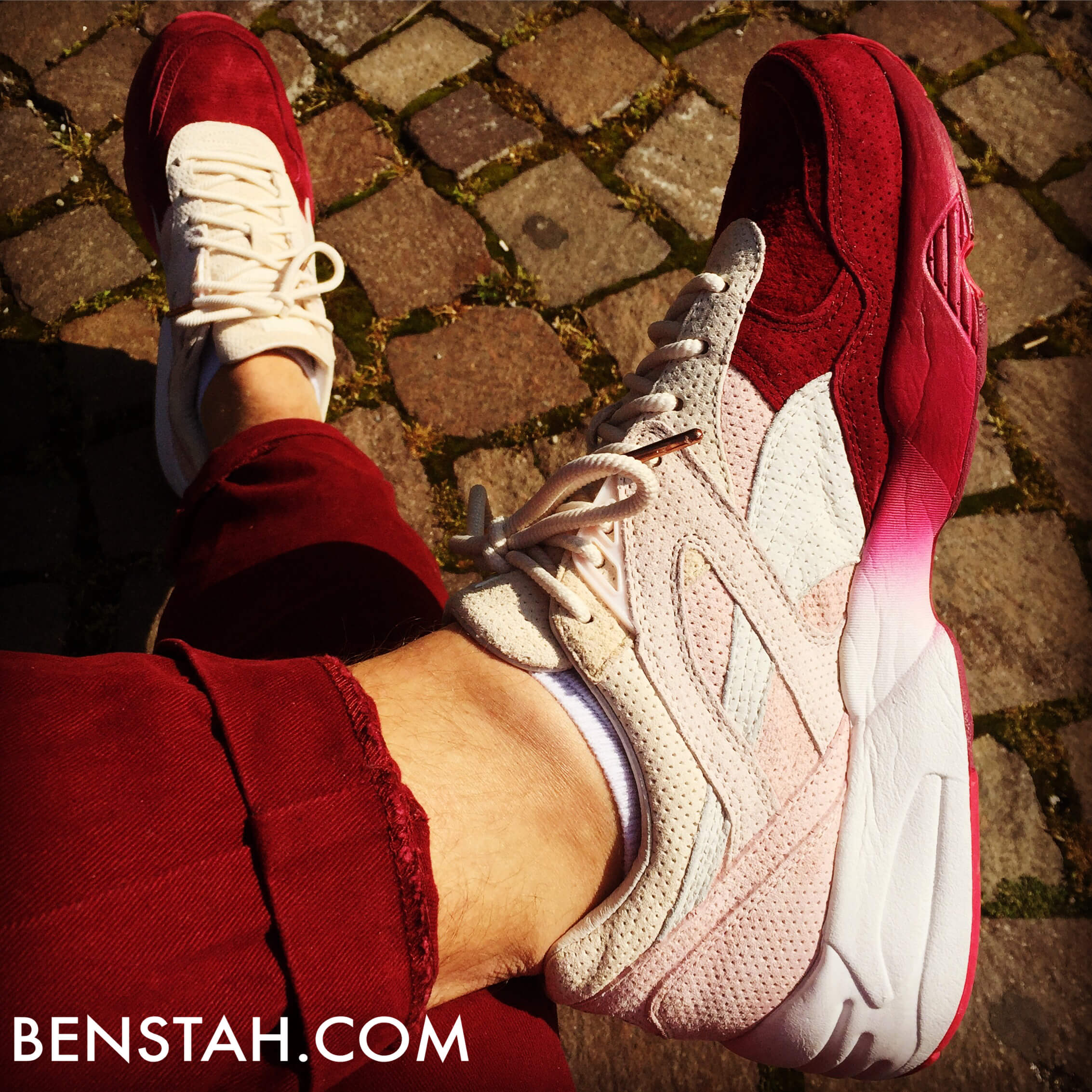 Puma-Ronnie-Fieg-x-R698-Sakura-Project-Top-View-Benstah-Onfeet